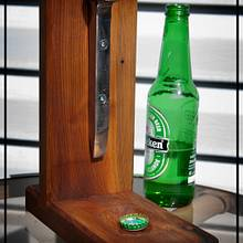 Table Top Bottle Opener - Woodworking Project by Railway Junk Creations