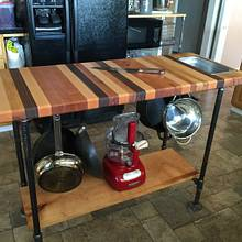 Cutting board island with waste bin - Woodworking Project by Paul