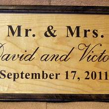 Mr. and Mrs. Wedding/Anniversary Signs - Woodworking Project by Shin