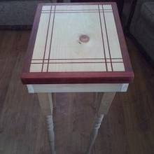 Inlay side table - Woodworking Project by glassman