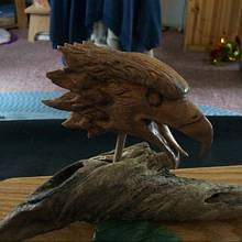 Eagle Head carving - Woodworking Project by Rustic1