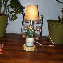 First wine bottle lamp - Woodworking Project by Galvipa