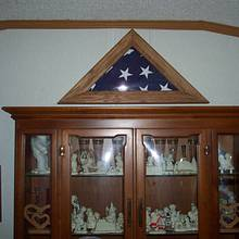 commemorative flag frame   - Woodworking Project by Wheaties  -  Bruce A Wheatcroft   ( BAW Woodworking)
