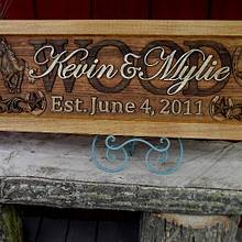 Rustic Finish Anniversary plaque - Woodworking Project by CarvedArtStudio511