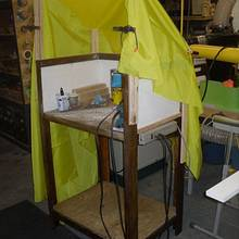 Sanding Station With Adjustable Hood - Woodworking Project by Kelly