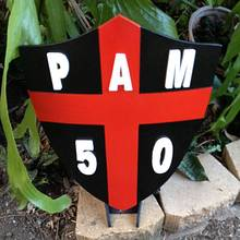 Pams 50 Birthday Shield - Woodworking Project by RobsCastle