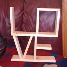 """Love"" shelf - Woodworking Project by Roy"