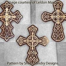 Filigree Crosses - Woodworking Project by Leldon