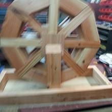 water wheel flower planter - Woodworking Project by allen newman