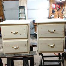 Matching nightstands - Woodworking Project by Ed Schroeder