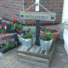 Barnwood Welcome sign post  - Woodworking Project by James