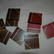 Contemporary Coasters - Woodworking Project by Ellen