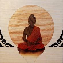 Buddha marquetry wooden box - Woodworking Project by Andulino