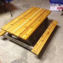 Reclaimed kids picnic table. - Woodworking Project by Oblivion