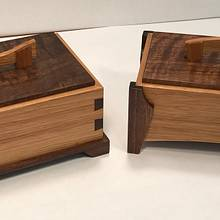 A Couple of Hickory and Walnut Keepsake Boxes - Woodworking Project by kdc68