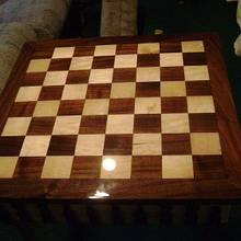 Chess Board Table - Woodworking Project by David Roberts