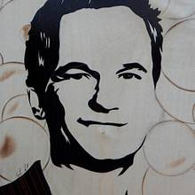 Barney Stinson (Patrick Neil Harris) marquetry - Woodworking Project by Andulino