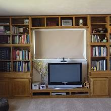 Built in Bookcase - Woodworking Project by Bondo Gaposis