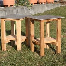 Patio Side Tables - Woodworking Project by Railway Junk Creations