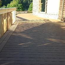 100 ft long deck - Woodworking Project by a1jim
