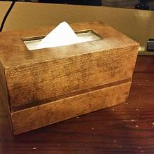 UPDATE: TISSUE BOX COVER W/ STORAGE - Woodworking Project by David E.