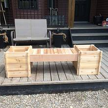 Cedar planter/bench - Woodworking Project by Rosebud613
