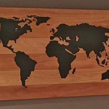 WORLD MAP - Woodworking Project by kiefer