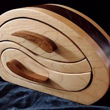 "Keepsake Box ""Yin Yang"" - Woodworking Project by Angela Maddock"