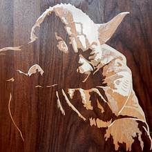 Yoda marquetry - Woodworking Project by Andulino