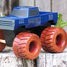 Monster Truck - Woodworking Project by Railway Junk Creations