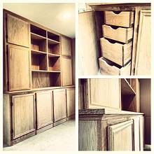 Built in China Cabinet - Woodworking Project by Bulldawg