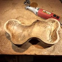 Salted maple bowl - Woodworking Project by Mark Michaels