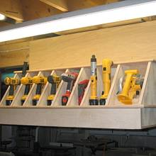 Cordless tool storage - Woodworking Project by baldwinlc