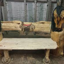 chainsaw carved bench - Woodworking Project by Carvings by Levi
