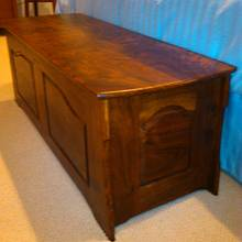 Claro Walnut hope chest - Woodworking Project by Quin W.