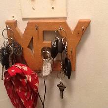 Old Project - Key rack/hooks - Woodworking Project by Thorreain
