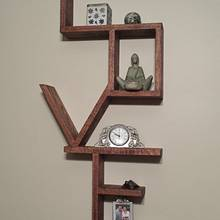 """LOVE"" Shelf  - Woodworking Project by Mitch Breault"