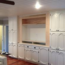 Entertainment built-in 2 - Woodworking Project by Dave Hebert/Hebert Home Solutions