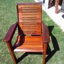 Redwood Lawn Chair restoration - Woodworking Project by Rickswoodworks