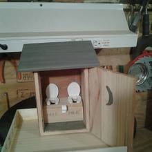 out house bird feeder in progress - Woodworking Project by jim webster