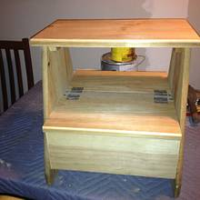 Step Stool With Storage - Woodworking Project by David A Sylvester