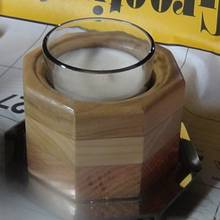 Octagon Candle Holder with miror base #2 - Woodworking Project by Renee Turner