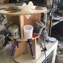 HPLV Spray Gun Rack - Woodworking Project by Andy
