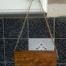 Hanging Plaque: Nan - Woodworking Project by Bo Peep
