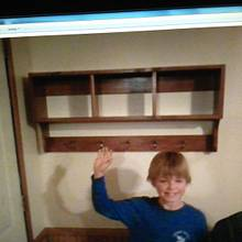 Coat & hat rack my son & I built - Woodworking Project by SmittyE