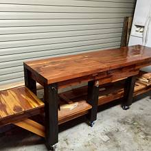 Work Bench - Woodworking Project by Chris & Sandy Charpentier