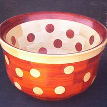 DOUBLE LAYERED BOWL WITH REVERSED DOTS & RIM - Woodworking Project by Sam Shakouri