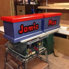 Small personalised toy boxes - Woodworking Project by iGotWood