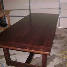 Pine Farm Table - Woodworking Project by David Roberts