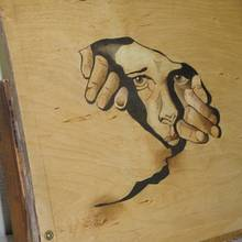 Face as intarsia image - Woodworking Project by Uwe Salzmann